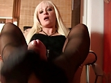 Professional Nylon footjob