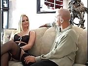 Hottie in black lingerie banged  hard
