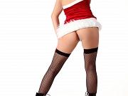 Santa in stockings