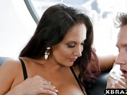 Gigantic boobs MILF catches panty thief and fucks him