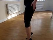 Tight skirt pantyhose high heels 4
