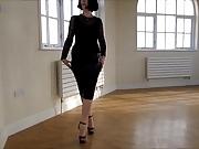 Tight skirt pantyhose high heels 3