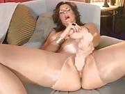 Tan Pantyhose Masturbation 18