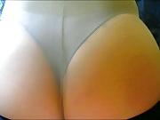 Crossdresser pantyhose ass 060