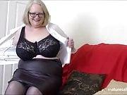 Black stockings and suspenders