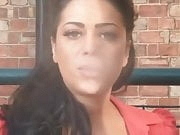 Busty Honey Smoking