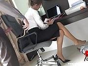 Cumming in my secretary's shoe