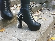 Lady L walking stud sexy boots(down)