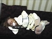 Alessa cute teen hogtied