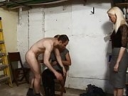 Nice Mistresses give a good spanking in the Garage Part-1