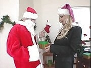 Blonde Hardcore Office Christmas Fuck with Santa Claus - MKX