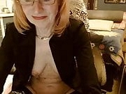 Granny sexy plays with herself