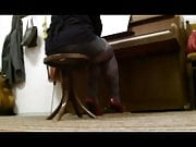 Teacher Playing Piano Nylons