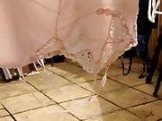 Silky nylon slips