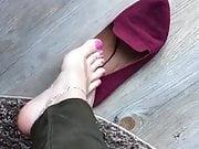 Ballerinas vs NYLONS Feet Mistress Sniff Socks Soles