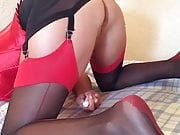 MATURE INTENS ORGASM DOGGYSTYLE IN STOCKINGS AND HEELS