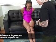 Ziptied Tight in Her Leotard