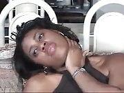 Ebony Foot Tease in Grey Pantyhose