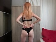 lingerie try on haul by  the adorable girl